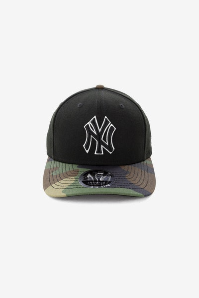 New Era New York Yankees 950 Original Fit Precurve Snapback Black Camo