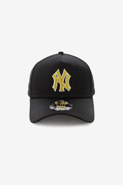 New Era New York Yankees 940 A-Frame Snapback Black/Gold
