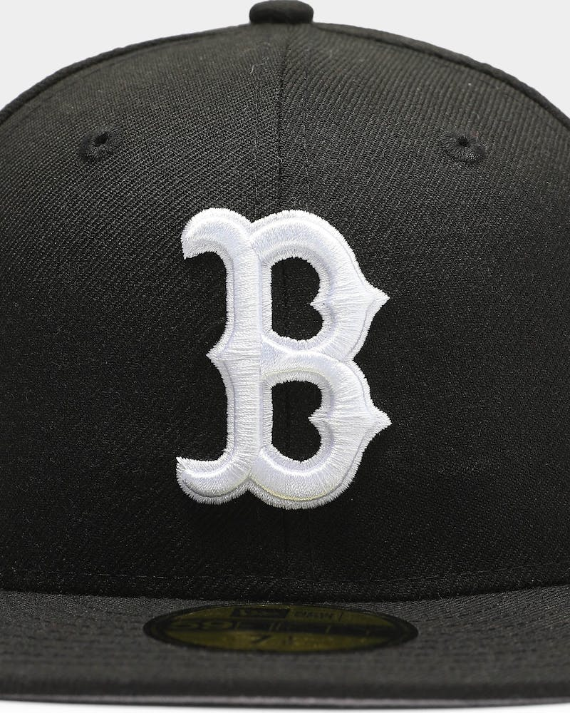 New Era Boston Red Sox 59FIFTY Grey Undervisor Fitted Black