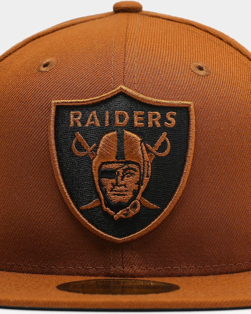 New Era Oakland Raiders 59FIFTY Black UV Fitted Toasted Peanut