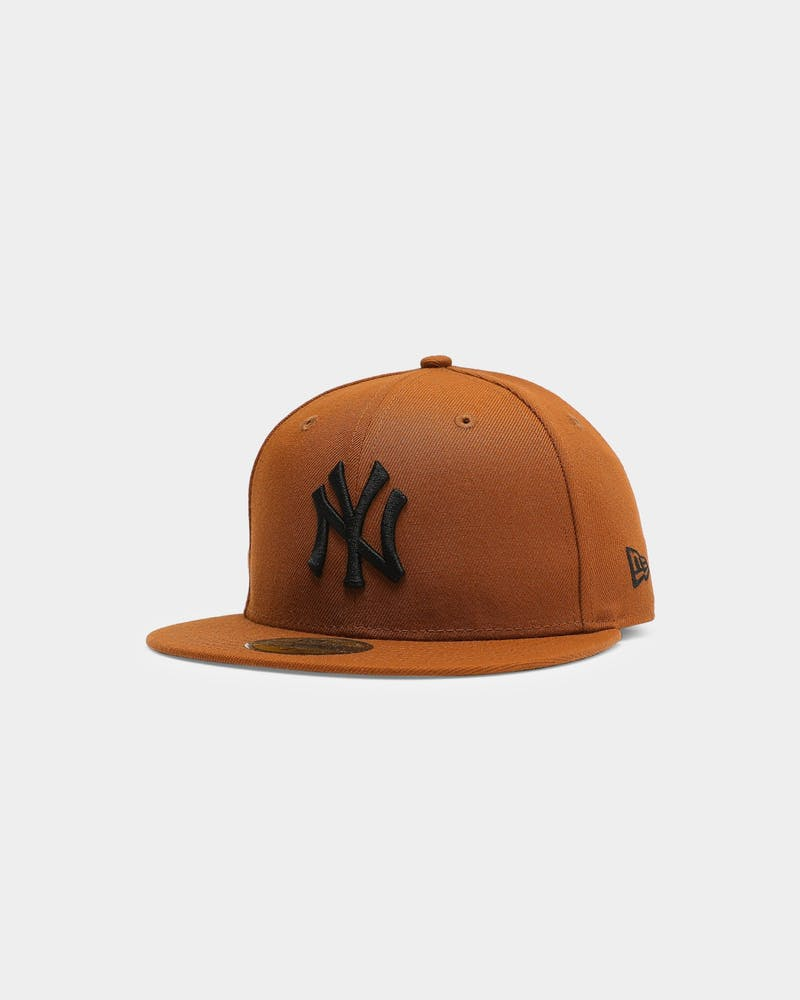 New Era New York Yankees 59FIFTY Black Fitted Toasted Peanut