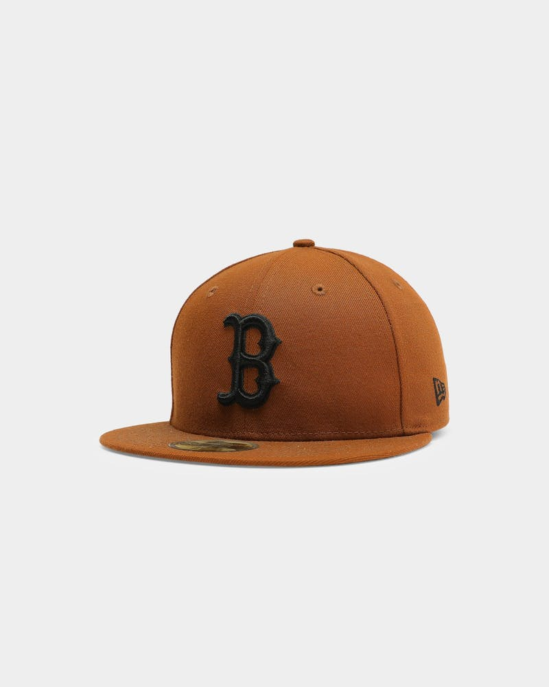 New Era Boston Red Sox 59FIFTY Black UV Fitted Toasted Peanut