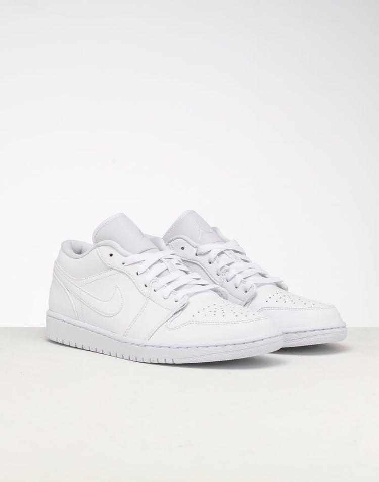 uk availability 35729 1a72d Jordan Air Jordan 1 Low White/White/White