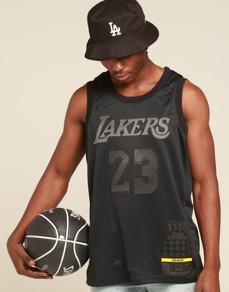 wholesale dealer ead1f fb7de Nike Los Angeles Lakers Lebron James MVP Swingman Black