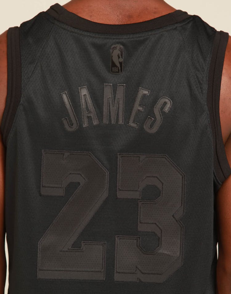 wholesale dealer 1c36c f02a2 Nike Los Angeles Lakers Lebron James MVP Swingman Black