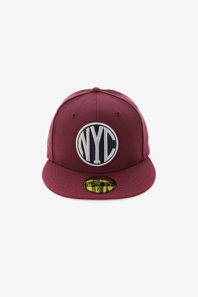 New Era NYC 5950 Fitted Maroon