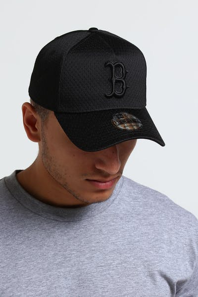 New Era Boston Red Sox 9FORTY A-Frame Mesh Snapback Black
