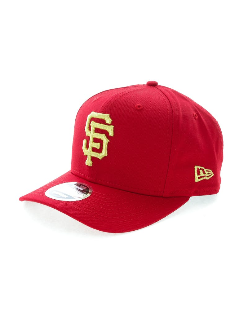 New Era Giants 9FIFTY Original Fit Precurve Snapback Scarlet/Gold