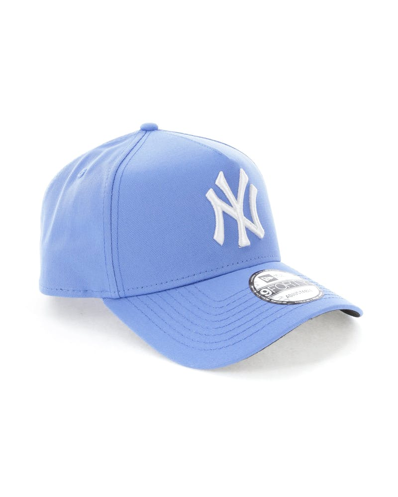 New Era New York Yankees 9FORTY A-Frame Snapback Sky Blue
