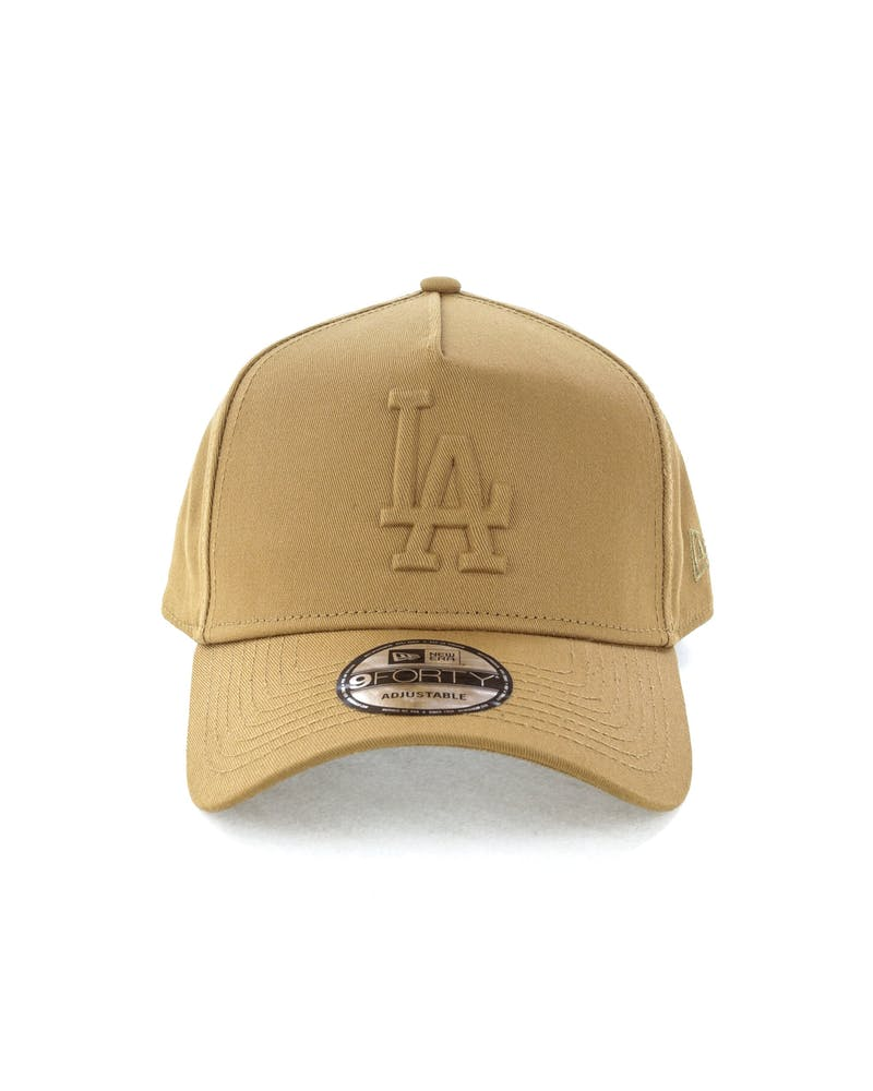New Era Los Angeles Dodgers Emboss 9FORTY A-Frame Snapback Wheat