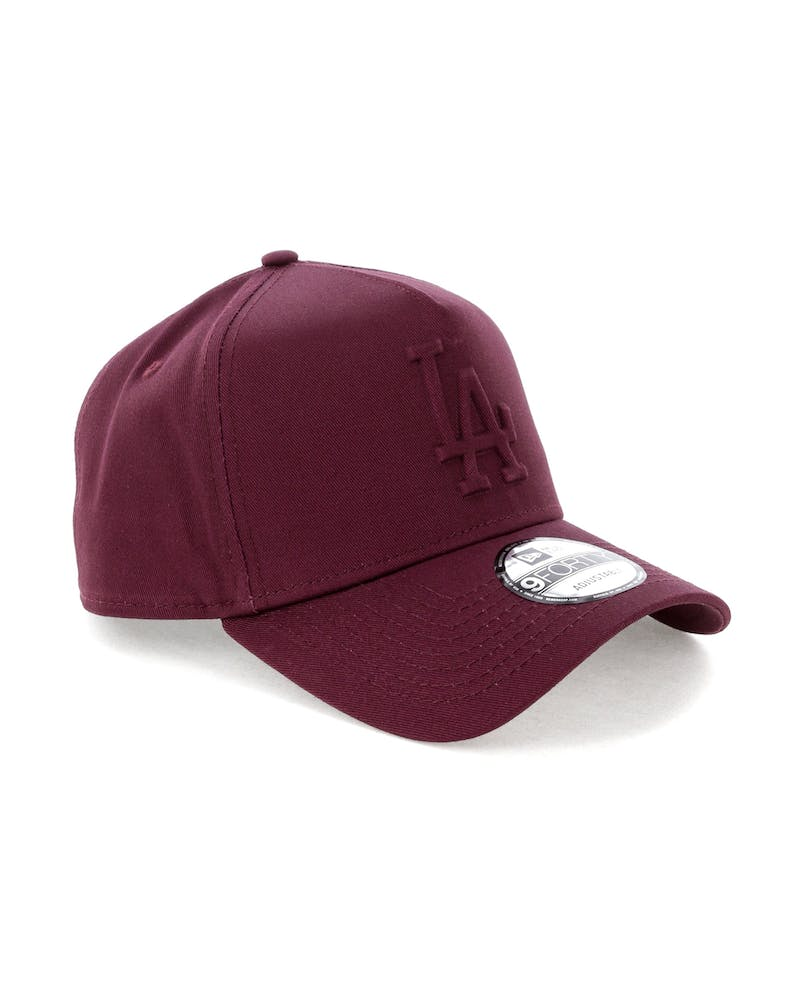 New Era Los Angeles Dodgers Emboss 9FORTY A-Frame Snapback Maroon