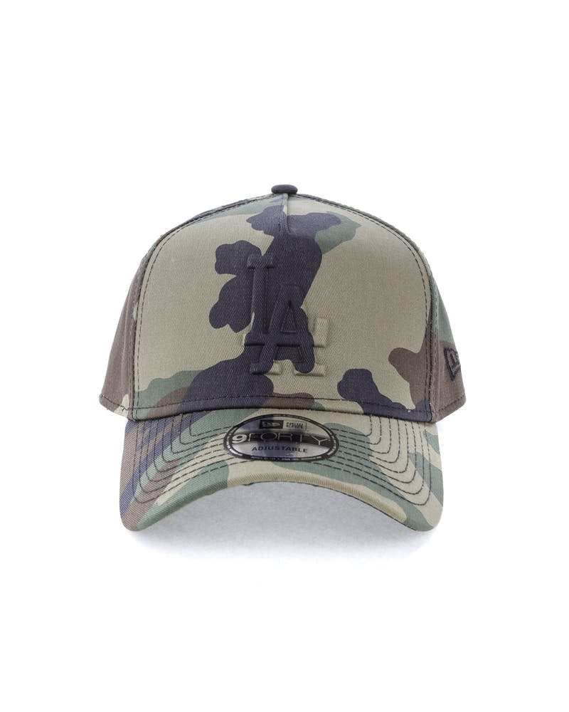 New Era Los Angeles Dodgers Emboss 9FORTY A-Frame Snapback Camo