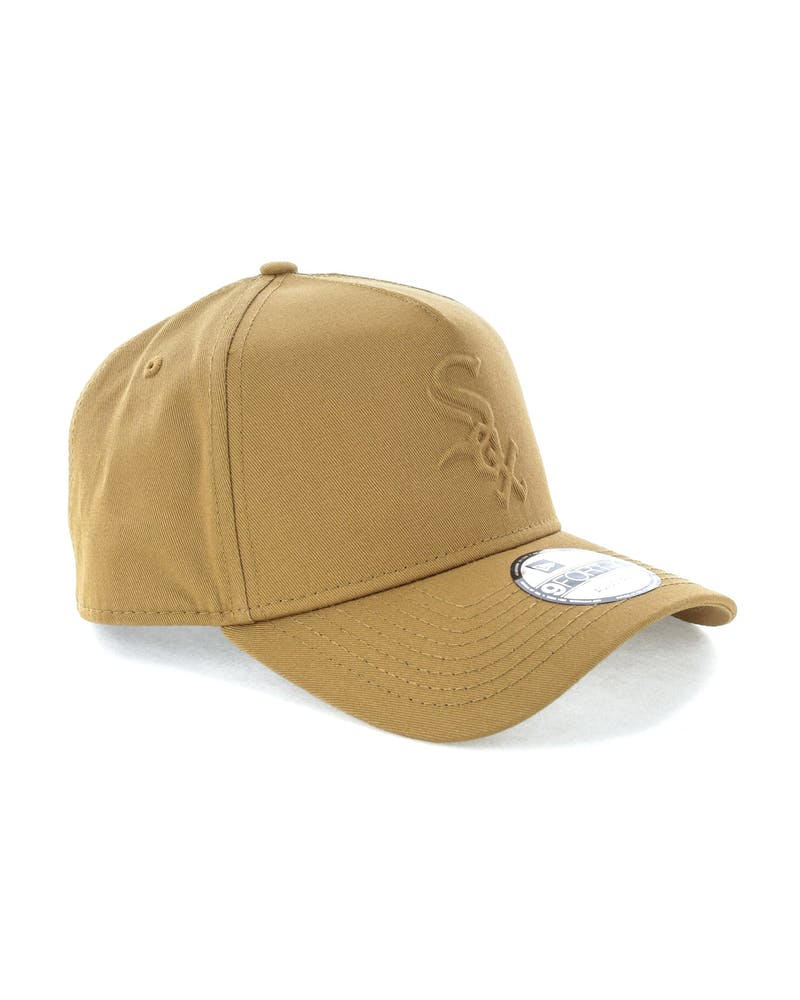 New Era Chicago White Sox Emboss 9FORTY A-Frame Snapback Wheat