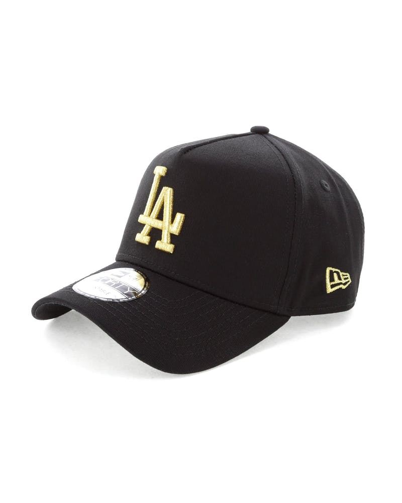 New Era Los Angeles Dodgers 9FORTY A-Frame Strapback Black/Gold