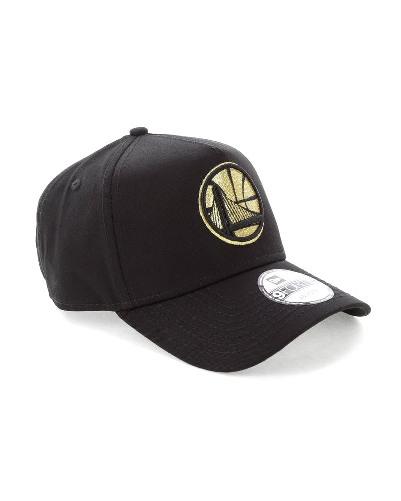 New Era Golden StateWarriors 9FORTY A-Frame Strapback Black/Gold
