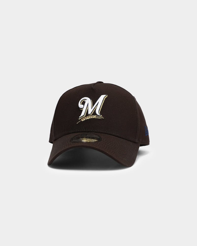 New Era Milwaukee Brewers MLB 9FORTY A-Frame Snapback Black
