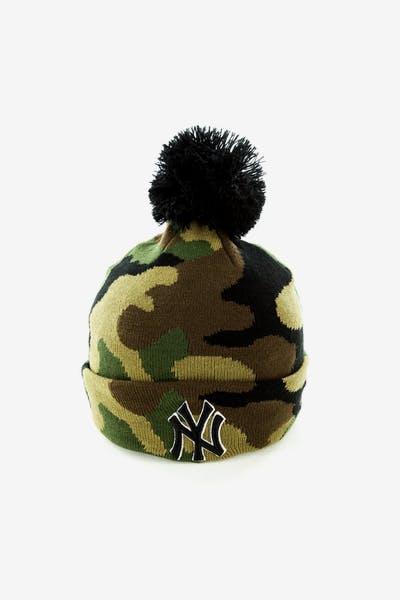 ebdce54685e New Era New York Yankees Pom Knit Beanie Camo