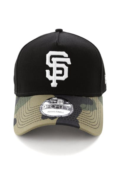 New Era San Francisco Giants 2 Tone 9FORTY A-Frame Snapback Black/Camo