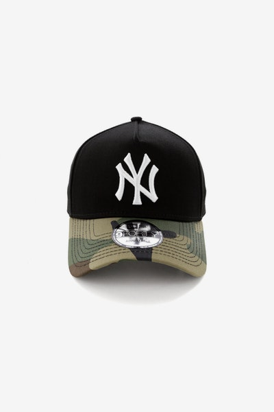 New Era New York Yankees 2 Tone CK 940 A-Frame Snapback Black/Camo