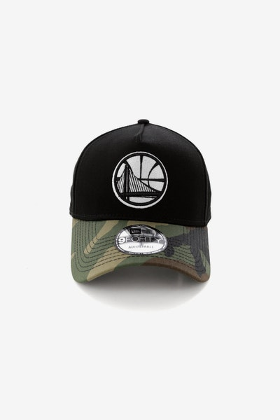 New Era Golden State Warriors 2 Tone CK 940 A-Frame Snapback Black/Camo