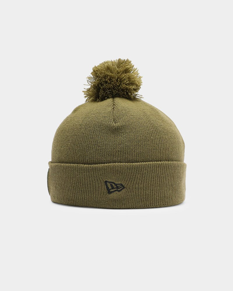 New Era Chicago Bulls Pom Knit Beanie Olive/Black