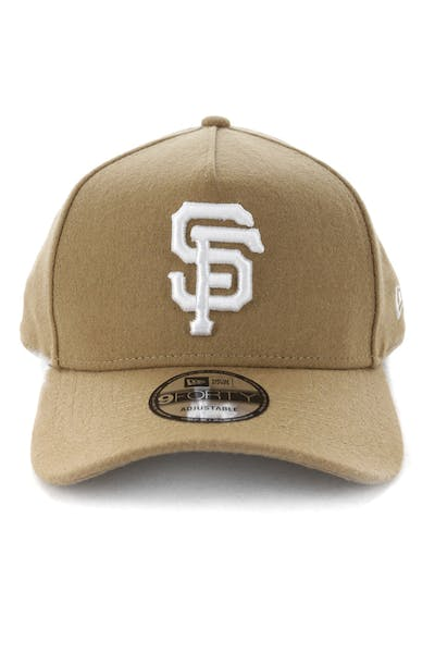 New Era San Francisco Giants 9FORTY A-Frame Melton Snapback Camel