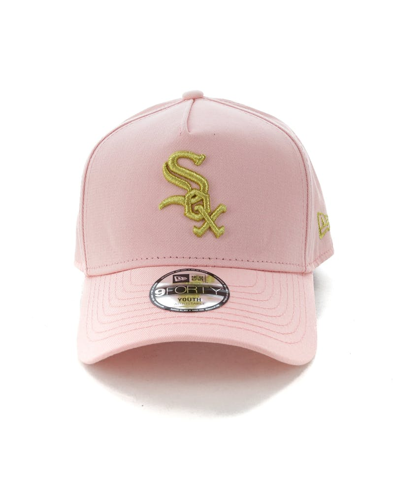 New Era Youth Chicago White Sox 9FORTY A-Frame Strapback Blush/Gold