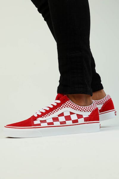 Vans Old Skool (Mix Checker) Red/White