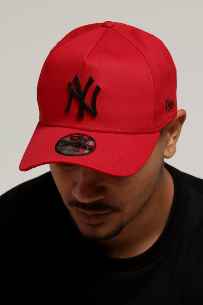 New Era New York Yankees 9FORTY A-Frame Metal Badge Snapback Scarlet Black  + Quick View a27854312043