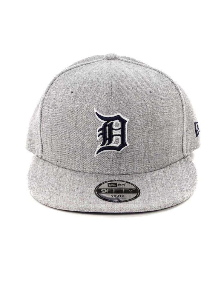 best cheap 64dda e9bff New Era Youth Detroit Tigers 9FIFTY Snapback Heather Grey