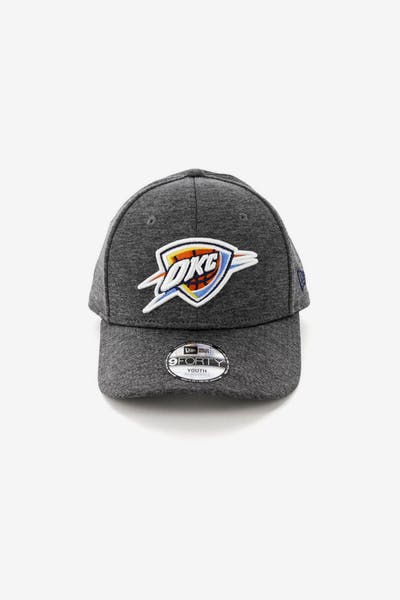 official photos 9e72a 596f4 New Era Youth Oklahoma City Thunder 9FORTY HookLP Shadow Tech Grey