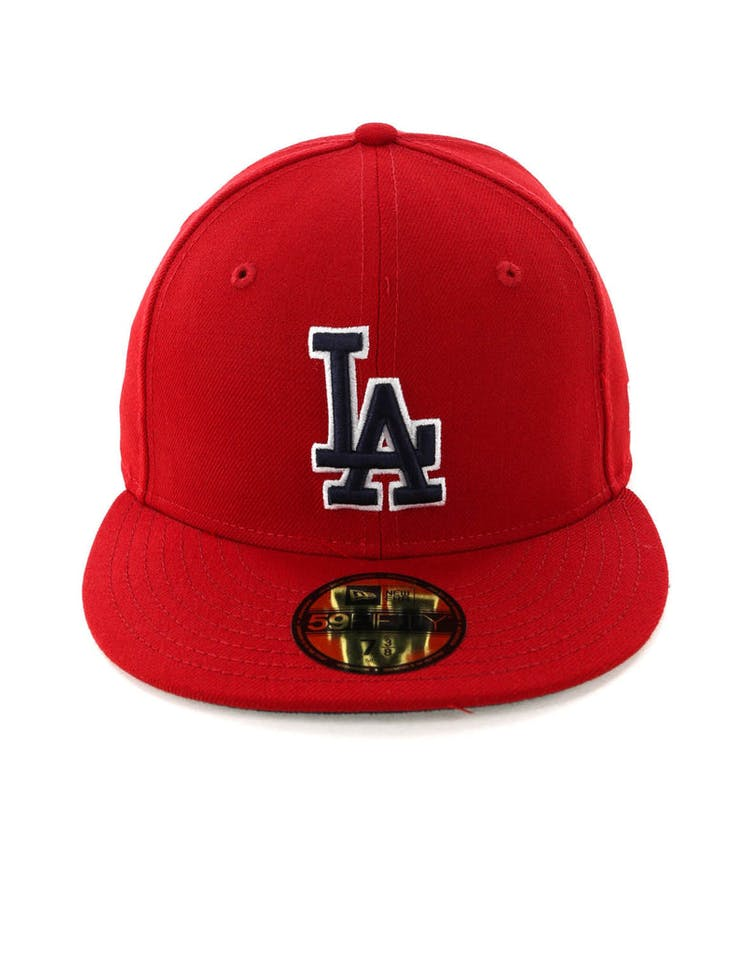 best sneakers 18bb4 11965 New Era Los Angeles Dodgers 59FIFTY Fitted Scarlet Navy