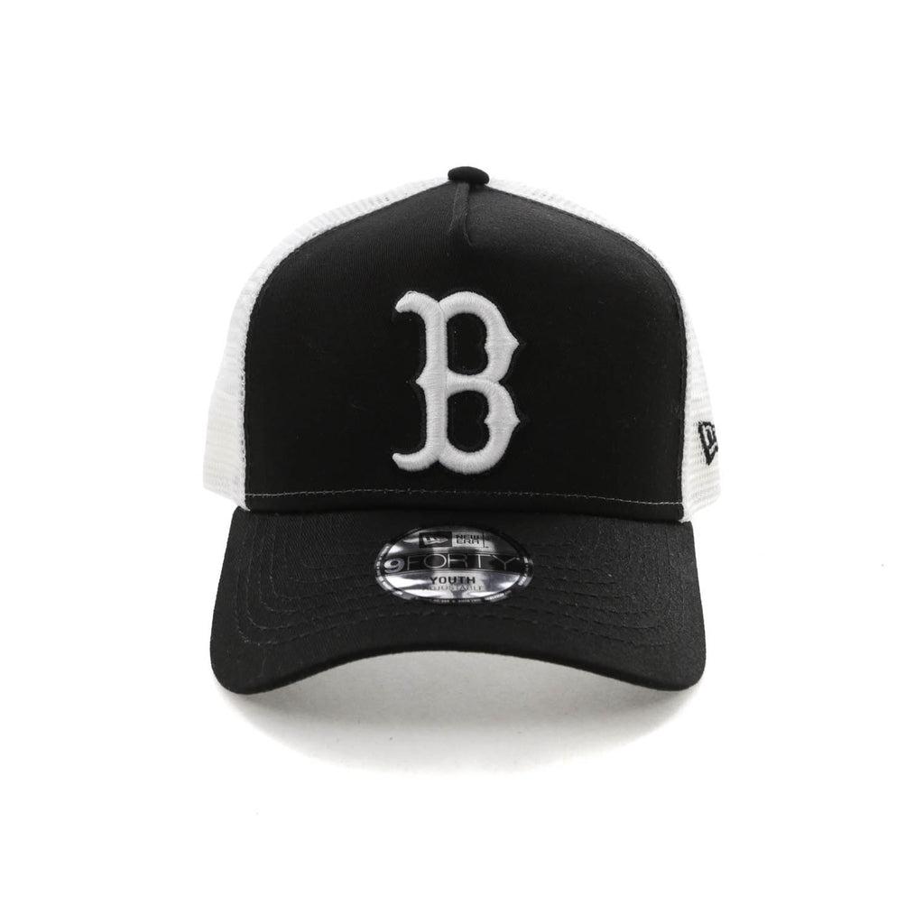 b558cf68658 ... new era youth boston red sox 9forty a frame trucker snapback black white