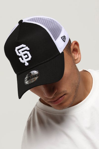 New Era San Francisco Giants 9FORTY A-Frame Trucker Snapback Black/White