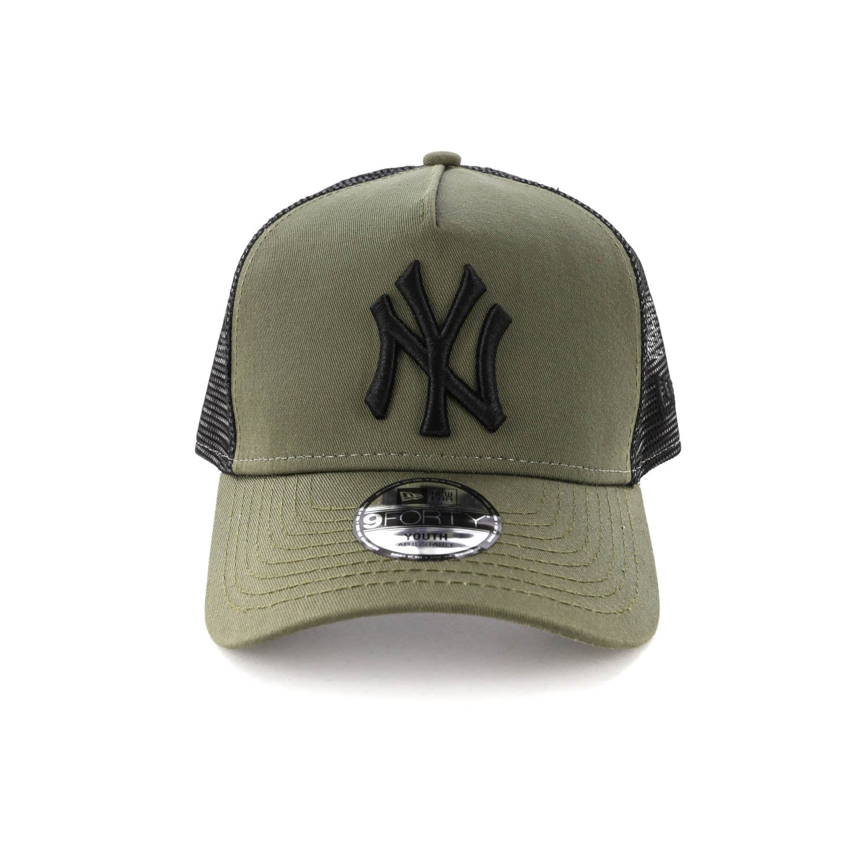 Olive New Era New York Yankees A-Frame Trucker Cap