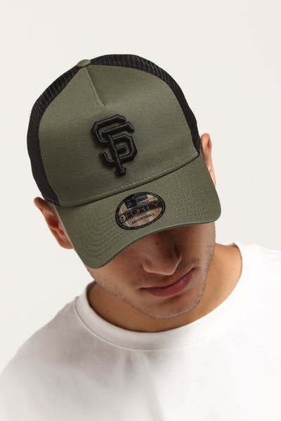New Era San Francisco Giants 9FORTY A-Frame Trucker Snapback Olive/Black