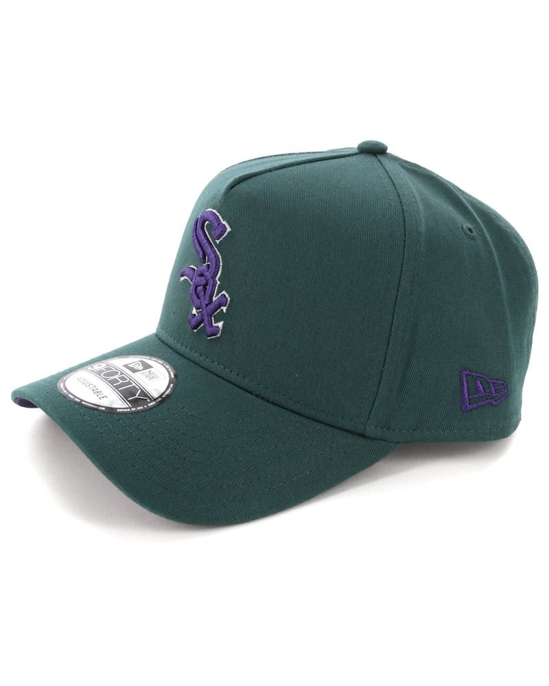 New Era Chicago White Sox 9FORTY A-Frame Snapback Pine/Purple