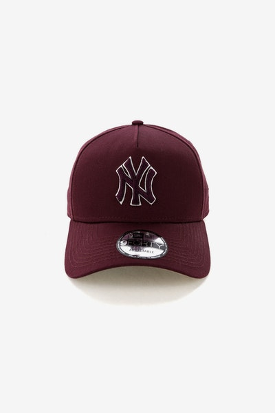 New Era New York Yankees CK 940 A-Frame Snapback Burgundy/Tan