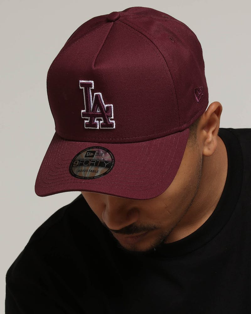 New Era Los Angeles Dodgers 9FORTY A-Frame Burgundy/Tan