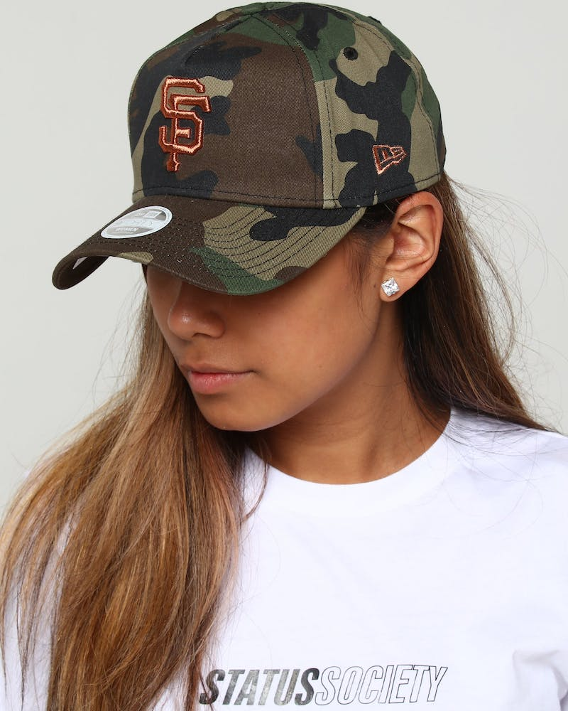 New Era Women's Giants 9FORTY A-Frame Strapback Camo/Rose Gold