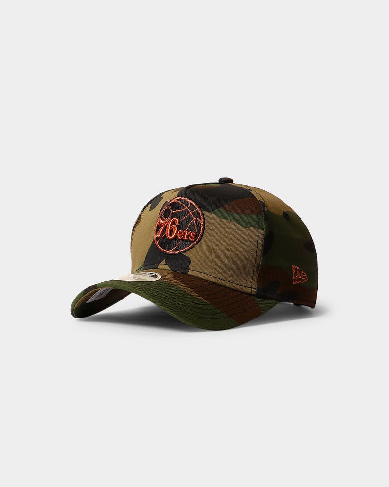 New Era Women's Philadelphia 76ers 9FORTY A-Frame Strapback Camo/Rose Gold