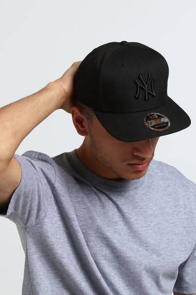 New Era New York Yankees 9FIFTY Original Fit Precurve Snapback Black/Grey