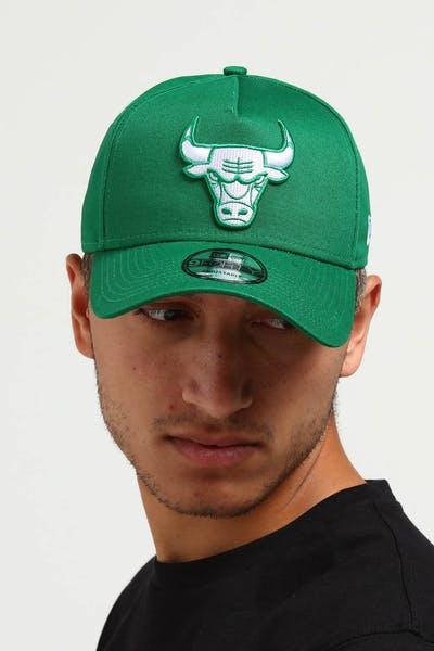 a59d5ee59 New Era Chicago Bulls CK 9FORTY A-Frame Snapback Emerald Green ...