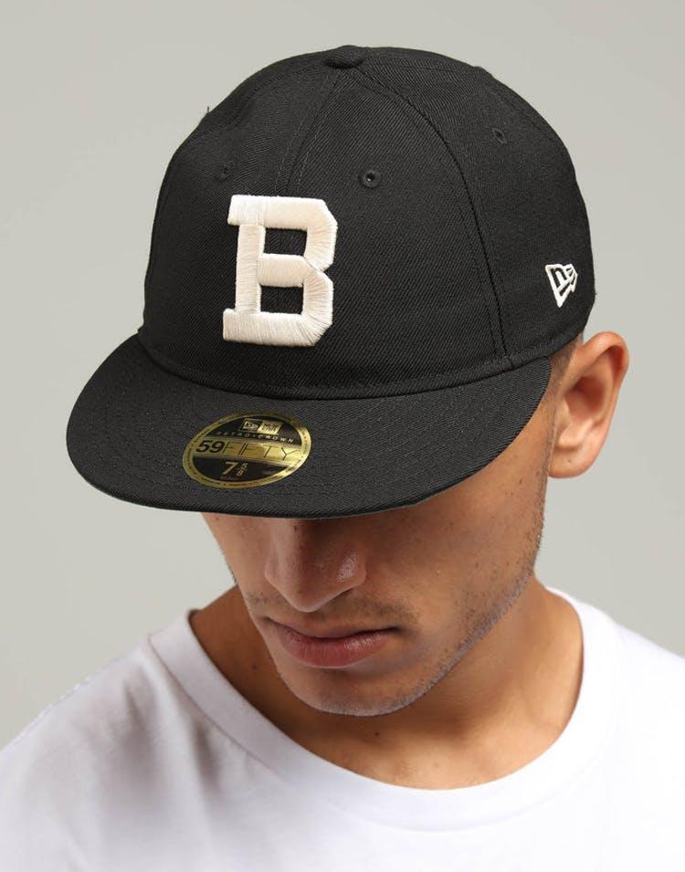 sale retailer 4e4e2 b4635 New Era Brooklyn Dodgers Coop 59FIFTY Retro Crown Fitted Black Tan
