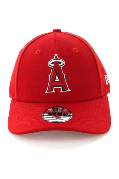 separation shoes e7ae9 b6f55 New Era Youth Los Angeles Angels 9FORTY Hook N Loop Scarlet ...