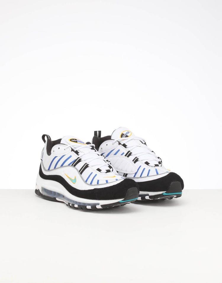 online store d7c89 4a5bb Nike Air Max 98 Premium White/Multi-Coloured