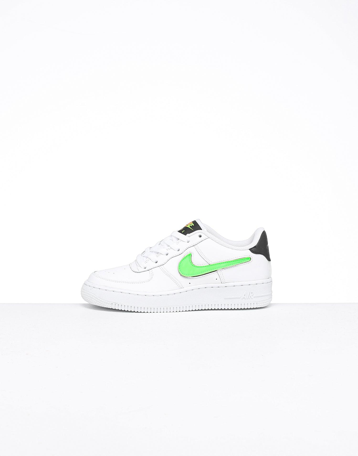 Nike Kids Air Force 1 LV8 3 (GS) WhiteBlackGreen