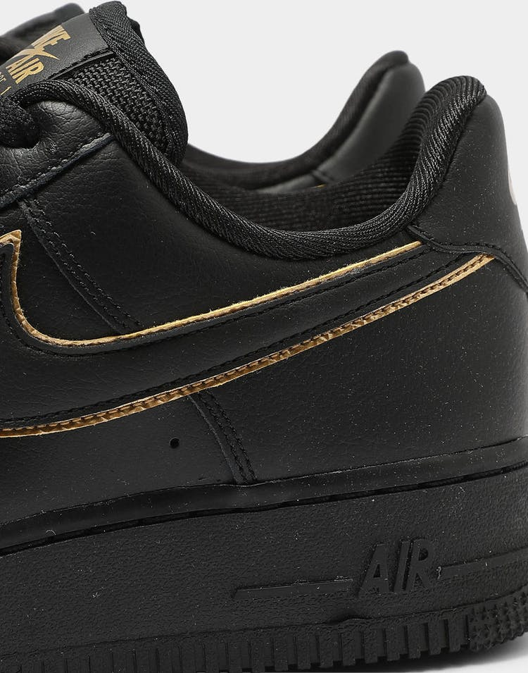 Nike Women's Air Force 1 '07 Essential Black/Gold/Black