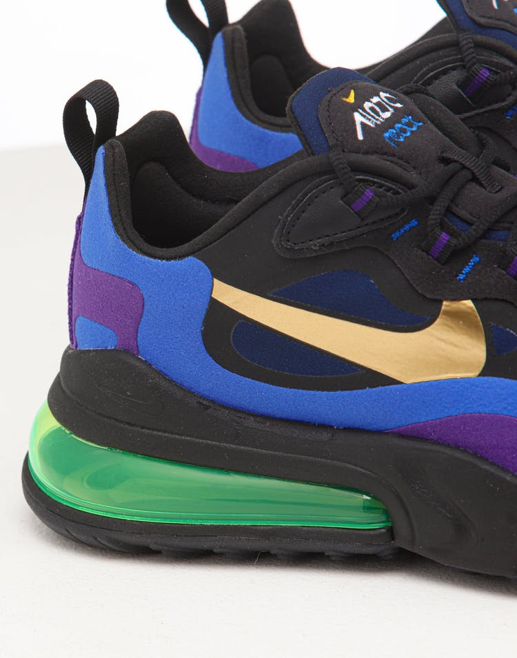 Nike Air Max 270 React Black/Gold/Royal