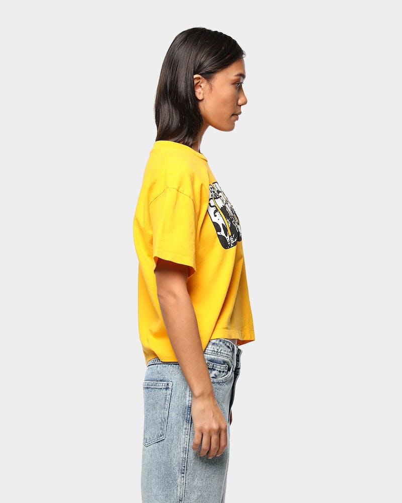 Obey Women's Easy To Love Crop T-Shirt Gold